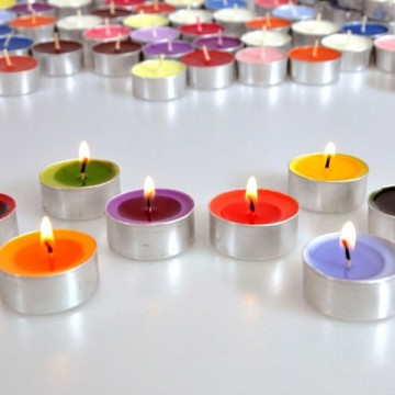 Paraffin Wax White Tealight Lilin untuk Votive