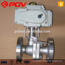 Straight 2 way electric ball valve high pressure