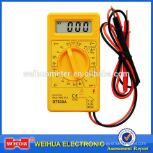Small Digital Multimeter DT830A CE CAT I with battery tester