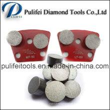 Ferramentas concretas do diamante do moedor do assoalho que moem o segmento para a almofada do metal