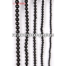 Gemstone black stone round beads