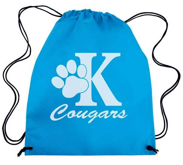 Back To School Nylon Drawstring School Bag