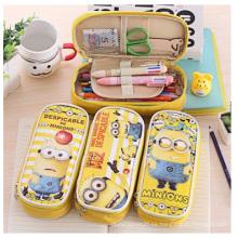 Bolsos creativos del lápiz promocional, bolsos impresos amarillos del lápiz