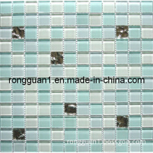 Bathroom Wall and Floor Crystal Glass Mosaic Tile