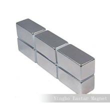 N52 Neodimio bloque magnético de galjanoplastia del cinc de