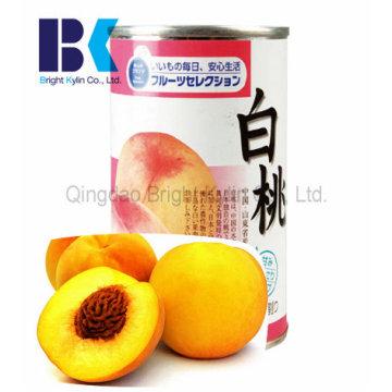Консервированный желтый персик легко переносится