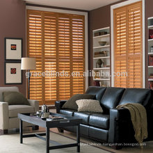 High Quanlity Competitive Price stained wooden shutters plantation shutters customize mutiple colors