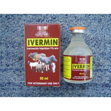 1%/50ML veterinaria inyectable de ivermectina inyectable
