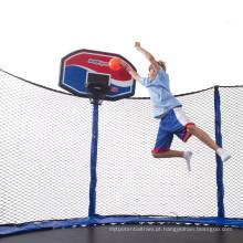 CE, trampolim de segurança TUV com aros de basquete