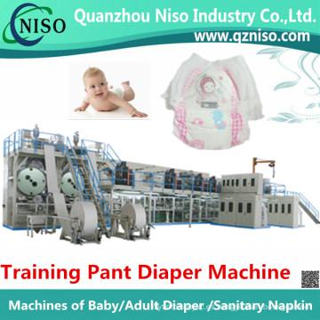 El entrenamiento disponible de alta velocidad arroja la fabricación de la fabricación de la máquina del pañal (LLK500-SV)