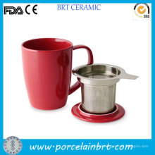 Wholesale Ceramic Tea Cup with Stainless Steel Infuser