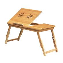 novo estilo de alta qualidade dobrável mesa de laptop de bambu