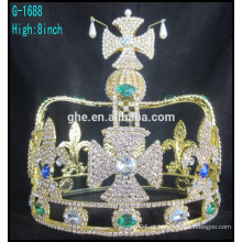Coroa em forma de rei, coroa cheia, estilo novo, tiara, alta, coroa, tiara