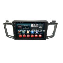 Фабрика!автомобильный DVD-плеер с зеркальная связь/видеорегистратор/ТМЗ/obd2 для 10.1 дюймов сенсорный экран андроид 4.4 системы Тойота RAV4 2014