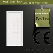 Diseño de puerta de madera interior de pintura de nuevos productos