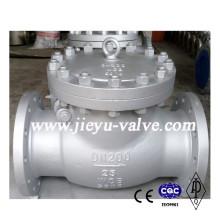 Dn200 Válvula de retenção Wcb com flange manual