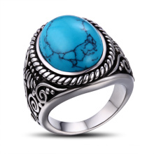 Best Selling Fine Silver Natural Gemstone Ring Jewelry