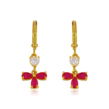 Xuping Zircon Flower Zircon Earring avec 24k plaqué or (22704)