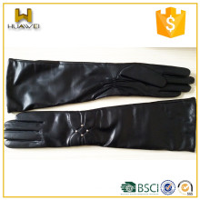 Ladies' long leather gloves made with sheep skin