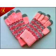 Toque cálido invierno guantes de pantalla