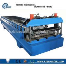 Máquina de la línea de producción del panel de la azotea acanalada / máquina de la hoja del telar de metal galvanizado