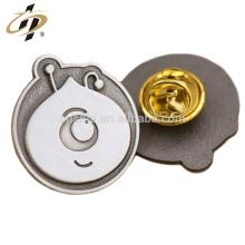 Custom zinc alloy antique silver metal animal lapel pins