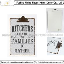 Presse-papiers en métal pour salle de cuisine