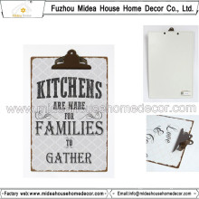 Metal Clipboard for Kitchen Room