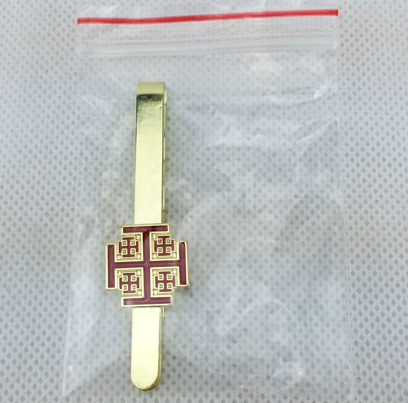 Quality Shiny Gold Pattern Tie Clip Bar