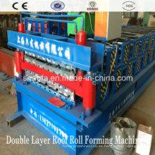 Máquina formadora de rollos de panel de techo de doble capa (AF-D1100)