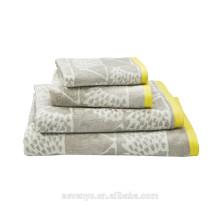 La toalla gris clara del telar jacquar de alta calidad fija HTS-026 al por mayor