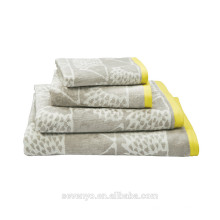 High quality Light Grey Jacquard Towel Sets HTS-026 wholesale