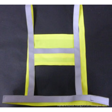 Reflective Band Vest of 100% Polyester Knitting Fabric and High Luster Reflective Tape