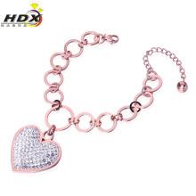 Moda jóias de aço inoxidável em forma de coração pulseira (hdx1215)