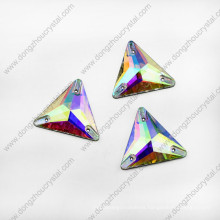 China Factory Price Flat Back Ab Color Triangle Sew on Beads for Clothes