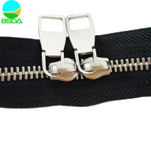 Heavy Duty New Type Metal Double Slider Zipper