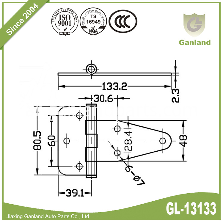 Bolt on hinge GL-13133-1