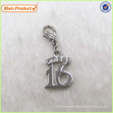 Wholesale Cheaper Silver Alloy Sweet 16 Letter Charm