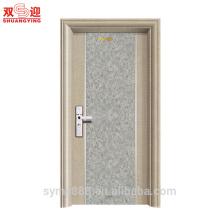 Европейский интерьер стиль двери одностворчатые стальные двери для дома внутренние использован лист матовый сталь