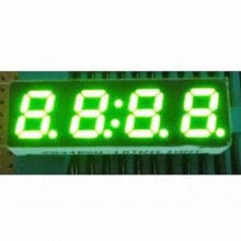 7-segment LED Display, 0.28-inch green color four digits, common anode, gray face and white segments