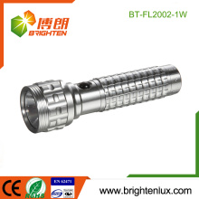 Factory Wholesale 3*AAA Cell Operated Handheld Housing Emergency 1watt Cree led aluminium flashlight