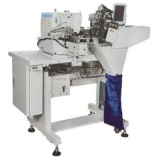 Laço de cinto de agulha dupla automática anexando a máquina de costura