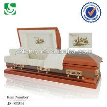 JS-ST514 adult metal casket