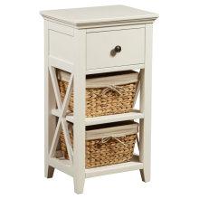Armário de armazenamento tecido do banheiro da cesta de madeira