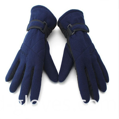 Polar Fleece Gloves dark blue
