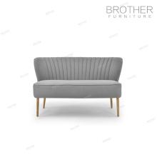 tissu d'ameublement en bois velours chesterfield sofa d'extérieur