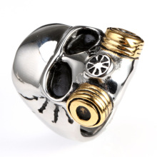 Stainless steel class punk college rings