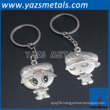 Custom metal couple keychain supplier