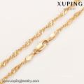 43954 7 grammes collier en or conçoit la mode delicat collier de bijoux plaqué or 18 carats