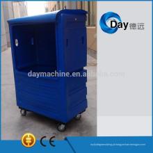 Trole plástico da lavanderia do PE HM-2 com COVER, preço COMPETITIVO do trole, trole ESTOQUE para venda